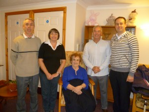 From left to right:  RRMC Treasurer Al Williams, RRMC Vice-Chair Liz Williams, RRMC Committee Fundraiser Mary Williams, RRMC Secretary Paul Williams and RRMC Chair John Richards.