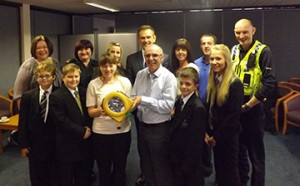 HeartSine AED donation to Minsthorpe Community College