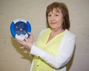 Anne Hanks from Slaney Banks, Rathvilly, whose life was saved thanks to a HeartSine defibrillator kept at Rathvilly GAA club. Photo: Thomas Nolan