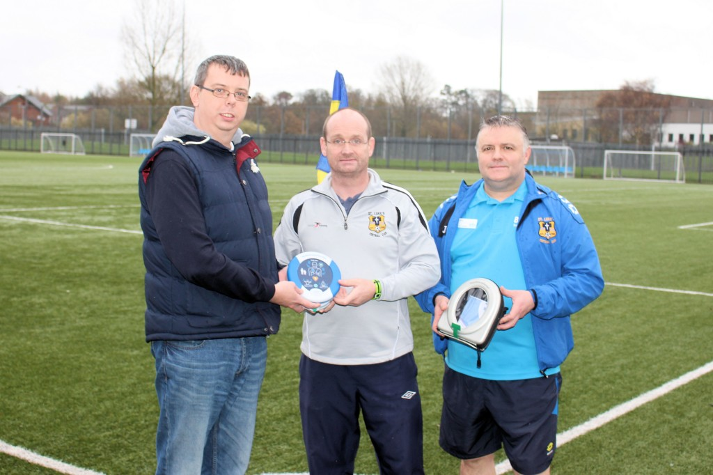Gerald Morgan (HeartSine's Network and Systems Engineer) , Jason Copeland (Team Coach), and Mark Delaney (Facilities Manager)