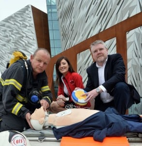 HEALTH & SAFETY HIGH ON AGENDA: Business owners are being warned not to put their employees at serious risk after it emerged there are over 9,000 workplace injuries in Northern Ireland each year. The shocking figure comes as a major health and safety conference is to be held in Titanic Belfast on 16th August 2013 to ensure that companies are prepared for emergencies in the workplace. The conference, which will be opened by DETI Minister Arlene Foster, was launched by organisers Rachael Garrett and Kevin Howlette from Emergency Fire and Safety Limited (EFS) and Andy McClernon, from sponsor HeartSine Technologies, who have donated a lifesaving defibrillator which will be won by an attending company through a draw on the day. To book your place, visit www.emergencyfire.co.uk.