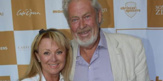 Sports commentator Christer Ulfbåge with wife Birgitta Falk Ulfbåge. Photo: All Over Press